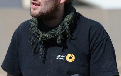 Sound engineer Ian Threlfall