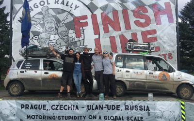 Nomadic Numpties return from Mongol Rally with over £6,000 for Backup