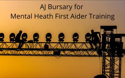 Backup launch AJ Bursary for Mental Health First Aider Training